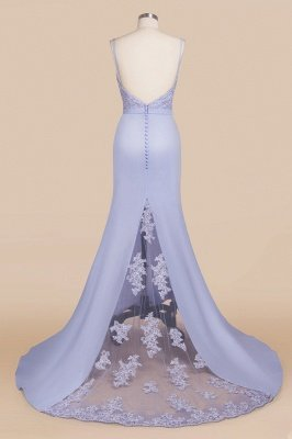 Cady | Spaghetti Strap Sweetheart Mermaid Prom Dress, Sexy Fitting Evening Gown with Belt_3