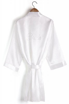 Drover | Personalized Rhinestone Silk Satin Bridal Wedding Bridesmaid Kimono Dressing Gown Robe_5
