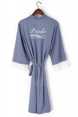 Dunstan | Personalized New Silk Short/long Wedding Bride Bridesmaid Robe Women Bathrobe Kimono