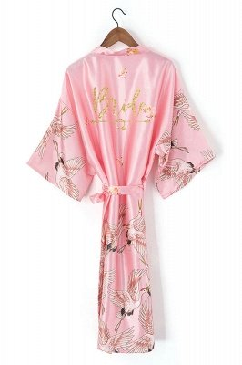 Dyson | Personalized Glitter Print Hot Solid Women robe Silk Satin Robes Wedding Bridesmaid Bride Gown kimono robe