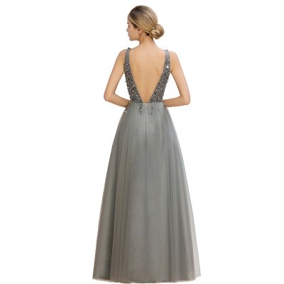 Abina | Sexy V-neck Sparkly Beaded Low Back Prom Dress with Gemstones_19