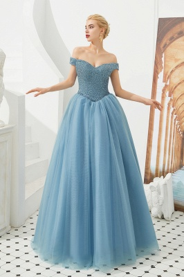 Harry | Elegant Emerald green Off-the-shoulder Ball Gown Dress for Prom/Evening_14