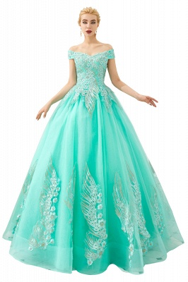 Henry   Elegant Off-the-shoulder Princess Red/Mint Prom Dress with Wing Emboirdery_2