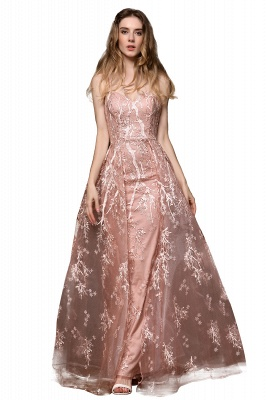 Ardolph | Gorgeous Dusty Pink Spaghetti Strap A-line Lace Prom Dress_13