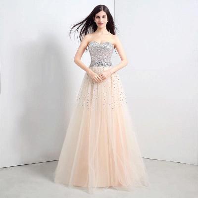 CECELIA   A-ligne bretelles robe de soirée en tulle avec paillettes_1