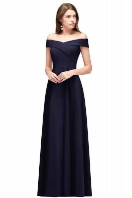 MAISIE | A-line Off-the-shoulder Floor Length Burgundy Bridesmaid Dresses_3