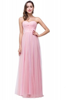 ADRIANNA | A-line Sweetheart Tulle Bridesmaid Dress with Draped_1