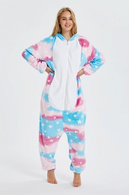Cartoon Animal Christmas Hooded Sleepwear Kigurumi Pajama Onesie Winter Nightie Poland Pegasus Jumpsuit_7