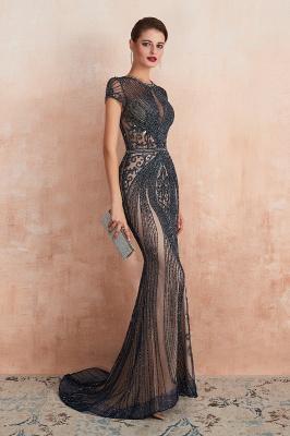 Chloe | Luxury Dark Navy Cap Sleeve Key hole Sparkle Prom Dress Online, Beautiful Champange Dresses for Evening Party_18