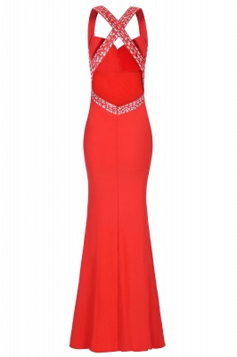 Ceci | Criss-cross Back Mermaid Prom Dress with Beaded Straps_18