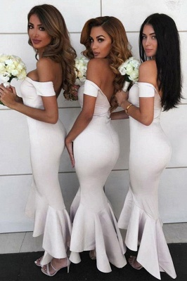 Sexy Open Back Sweetheart Neckline Meimaid Bridesmaid Dresses |Off-shoulder Ankle Length Wedding Party Gowns_4