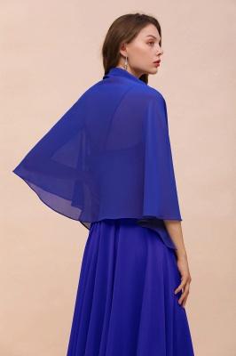 الأزرق الملكي الشيفون المناسبات الخاصة يلتف_3