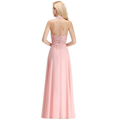 Sexy Halter Backless, Burgundy, Navy, Pink, Silver Sleeveless Princess Formal Dress_17