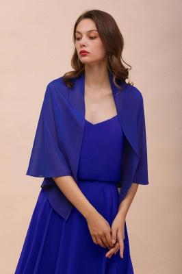 الأزرق الملكي الشيفون المناسبات الخاصة يلتف_4