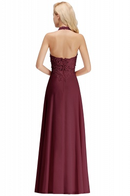Sexy Halter Backless, Burgundy, Navy, Pink, Silver Sleeveless Princess Formal Dress_32