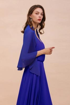 الأزرق الملكي الشيفون المناسبات الخاصة يلتف_7