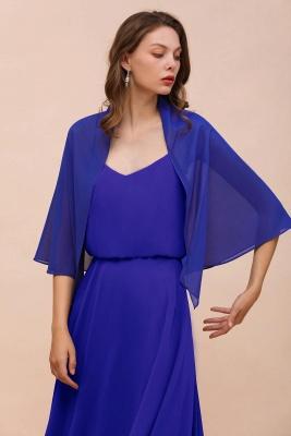 الأزرق الملكي الشيفون المناسبات الخاصة يلتف_6