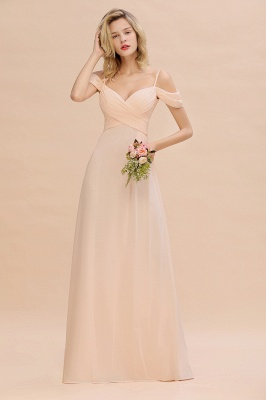 Spaghetti Straps Sweetheart Ruffles Bridesmaid Dress | Evening Dresses Online_1