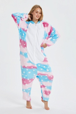 Cartoon Animal Christmas Hooded Sleepwear Kigurumi Pajama Onesie Winter Nightie Poland Pegasus Jumpsuit_4