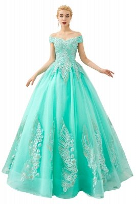 Henry | Elegant Off-the-shoulder Princess Red/Mint Prom Dress with Wing Emboirdery_2