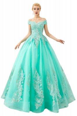 Генри | Элегантное красное плечевое платье принцессы с открытыми плечами и вышивкой с крылышками_2