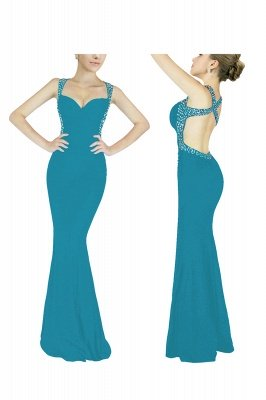 Ceci | Criss-cross Back Mermaid Prom Dress with Beaded Straps_3