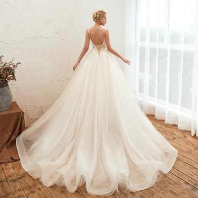 Vestido de novia marfil con tirantes finos boho | Vestidos de novia románticos en venta_20