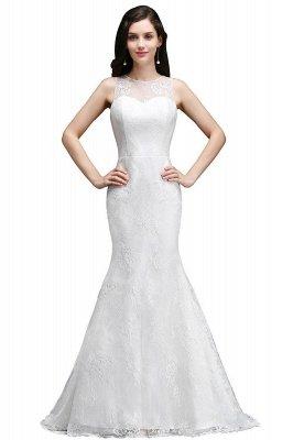 AMÉLIA   Sirène balayage train dentelle nouvelle arrivée robes de mariée avec des boutons_2