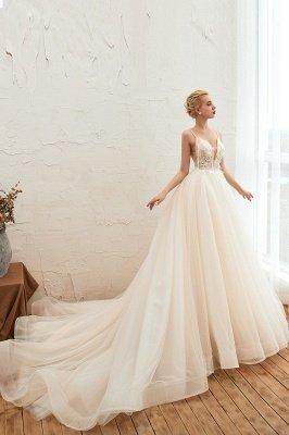 Vestido de novia marfil con tirantes finos boho | Vestidos de novia románticos en venta_13