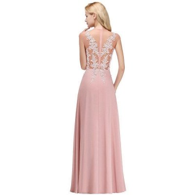 Cap Sleeve Lace Appliques Beads Slim A-line Evening Prom Dress for Women_6