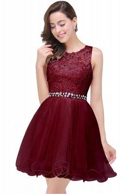 ABBY | A-ligne longueur au genou Tulle robe de bal avec Appliques & Crystal_3