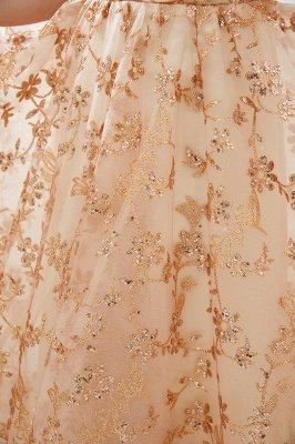 Hale | Romantisches Off-the-shoudler Rose Gold Schnürkleid aus Tüll mit funkelnden Applikationen_9