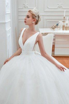 مثير الخامس الرقبة بلا أكمام فستان زفاف الأميرة الربيع | فساتين زفاف أنيقة منخفضة الظهر مع حزام_9