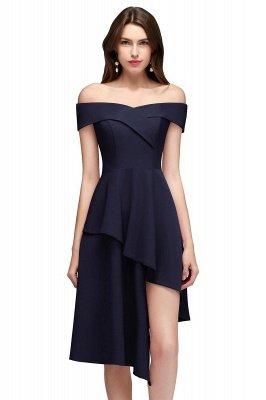 MALLORY | A-line Asymmetrical Short Off-the-shoulder Burgundy Prom Dresses_2