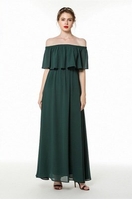 Emma | Affordable Off-the-shoulder Emerald Green Bridesmaid Dresses