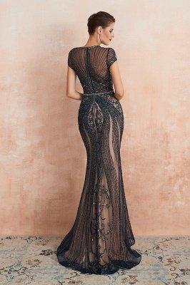 Chloe | Luxury Dark Navy Cap Sleeve Key hole Sparkle Prom Dress Online, Beautiful Champange Dresses for Evening Party_20