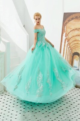 Henry | Elegant Off-the-shoulder Princess Red/Mint Prom Dress with Wing Emboirdery_14