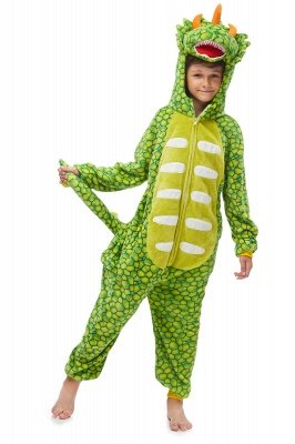 Light Green Triceratops Jumpsuit Winter Triceratops Pajamas For Children Kigurumi Animal Pyjamas