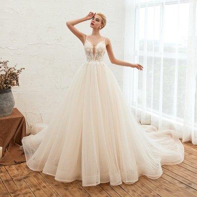 Vestido de novia marfil con tirantes finos boho | Vestidos de novia románticos en venta_15