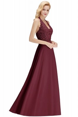 Sexy Halter Backless, Burgundy, Navy, Pink, Silver Sleeveless Princess Formal Dress_33