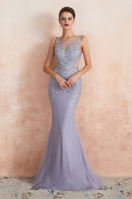 Chipo | Luxury Illusion neck Lavender White Beads Prom Dress Online, Expensive Low back Column Evening Gowns_8