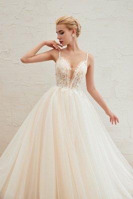 Vestido de novia marfil con tirantes finos boho | Vestidos de novia románticos en venta_14