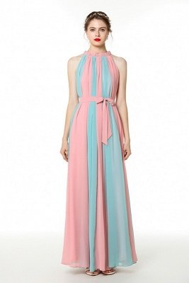 Coco | Mix and Match Pink Blue High Neck Column Formal Dress Online