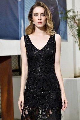 Arda | Black V-neck Sequined Short Cocktail Homecoming Dress_11