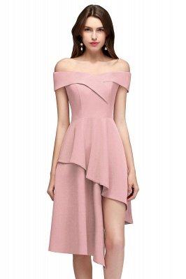 MALLORY | A-line Asymmetrical Short Off-the-shoulder Burgundy Prom Dresses_1