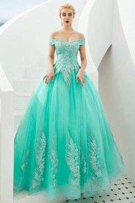 Henry | Elegant Off-the-shoulder Princess Red/Mint Prom Dress with Wing Emboirdery_18