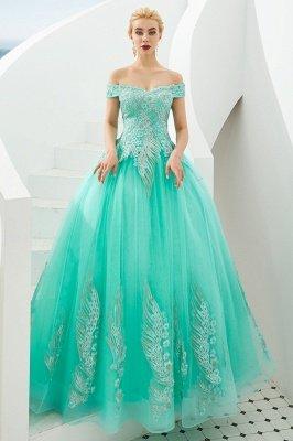 Генри | Элегантное красное плечевое платье принцессы с открытыми плечами и вышивкой с крылышками_18
