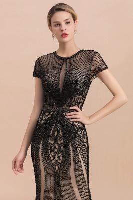 Luxury Black all-covered beaded Mermaid Prom Dress_6