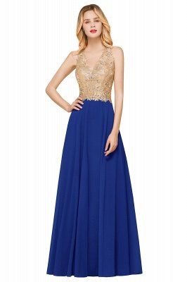 Великолепное бордовое вечернее платье без рукавов с v-образным вырезом | Дешевое Формальное Платье_4