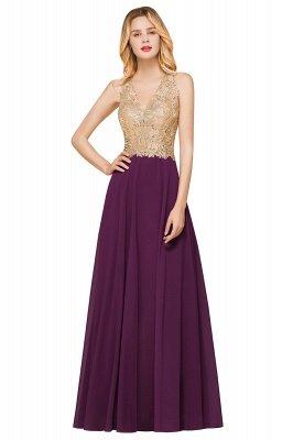 Великолепное бордовое вечернее платье без рукавов с v-образным вырезом | Дешевое Формальное Платье_3